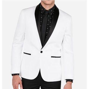 Other - Express Slim White Tuxedo Jacket
